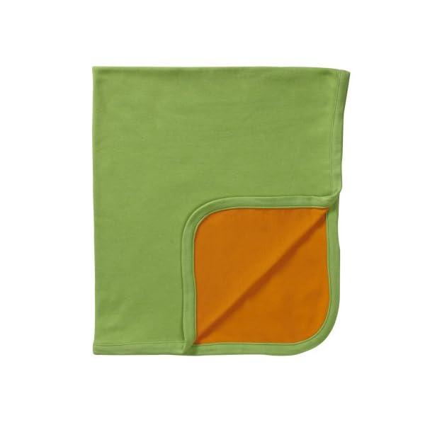 Babysoy Organic Reversible Blanket (Tangerine)