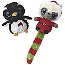 Aurora Christmas Santa Wanna Be and Genee Penguin YooHoo Plush 5
