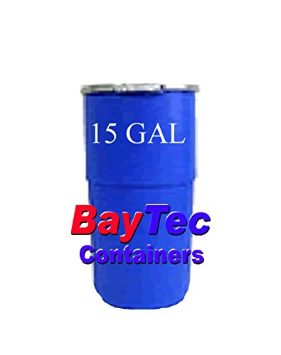 15 Gallon Plastic Drum Open-Top Tapered-Side