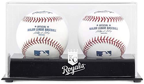 Mounted Memories Kansas City Royals Memorabilia - Kansas City Royals Two Baseball Cube Logo Display Case
