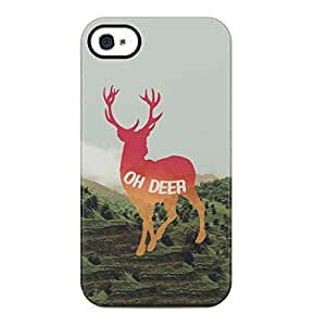 Oh Deer Tumblr Nature Hard Plastic Phone Case Cover Shell For iPhone 4 & iPhone 4s
