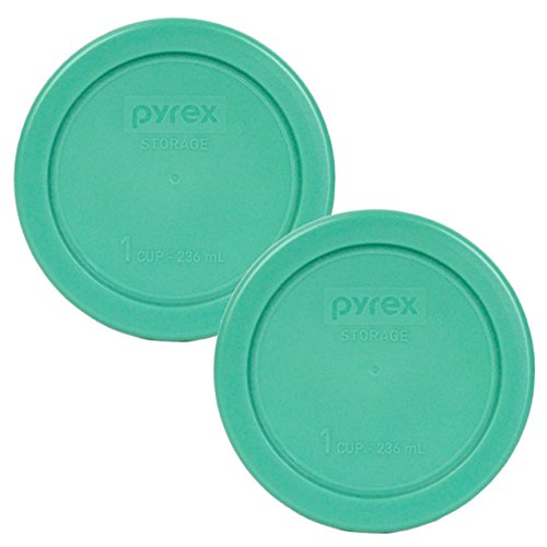 - Pyrex 7202-PC Round 1 Cup Green Plastic Lid Cover (2 Pack)