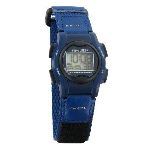 VibraLITE Mini 12-Alarm Vibrating Watch - Navy Blue Alarm Band Wrist Watch