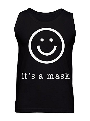 It's A Mask Smiley Face Emoji Men's Tank Top