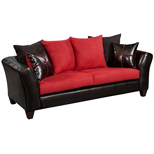 Flash Furniture Riverstone Victory Lane Cardinal Microfiber Sofa, Multicolor