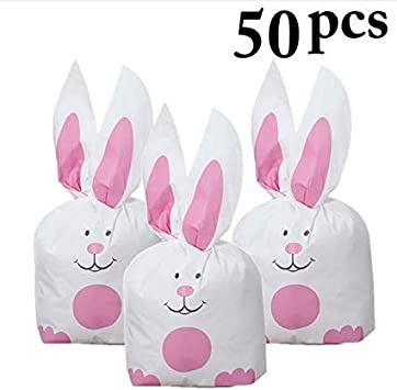 CHIPYHOME 50 Unds. Bolsas Conejos para chuches, Bombones, Regalos ...