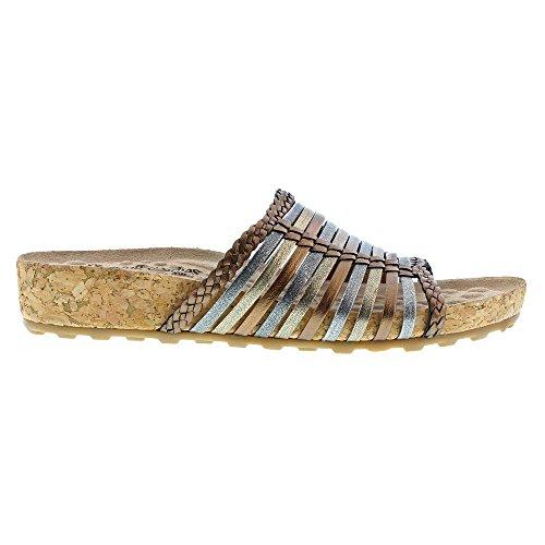 Walking Metallic Slides S Piece N Cradles Multi Sandal Women 71w7qR