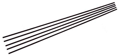 "5 Pack of 1/8"" Diameter Micarta Canvas Knife Handle Pins, 12"" Black Rod"