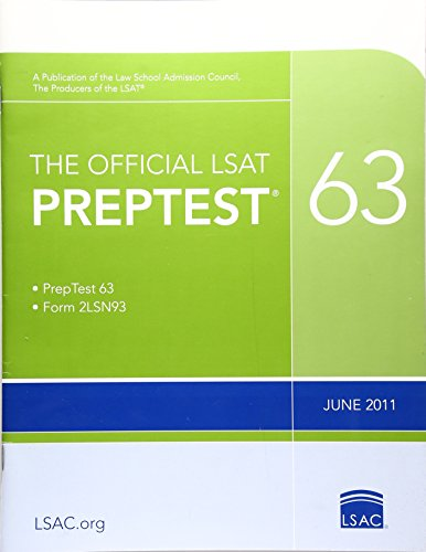 The Official LSAT PrepTest 63: (June 2011 LSAT)