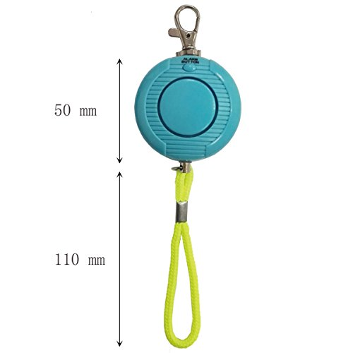 Enyee-120dB-Personal-Alarm-Waterproof-Loud-Siren-Device-Student-Daily-Rainproof-Self-Defense-Emergency-Security-Alarm-Systems-Keychain-with-rope-Belt-for-WomenAttack-RapeJoggerKidsElderly-Blue