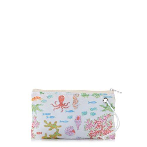 Coral Reef Bag (Sea Bags Coral Reef Wristlet Recycled Sail Cloth)