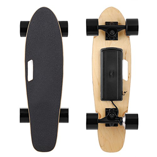 Yuanne Mini Electric Cruiser Skateboard E200 | 7 Layer Canadian Maple | 12 MPH Top Speed | Electric Skateboard with Wireless Handheld Remote Control (US Stock)