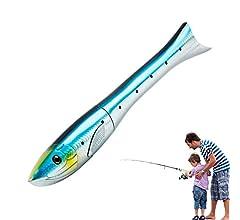 LMEI-QUN, 160cm Mini caña de Pescar Forma de Pescado Spinning caña ...