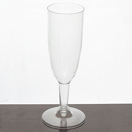 Efavormart 60 Pcs - Clear 6oz Imperial Collection Disposable Plastic Champagne Glass
