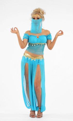 Arabian Belly Dancer Female Fancy Dress Costume - XL (US 16-18) - Belly Dancer Costume Uk