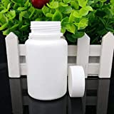 GDGY 20PCS 100ML 3.4oz White Plastic Empty Portable Solid Powder Medicine Bottles Pill Tablet Holder Storage Case Container Box