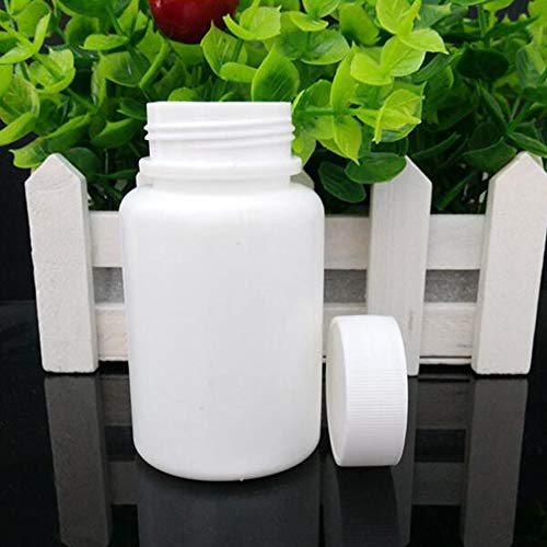 Large Pill Bottle - GDGY 20PCS 100ML 3.4oz White Plastic Empty Portable Solid Powder Medicine Bottles Pill Tablet Holder Storage Case Container Box (20pcs 100ml Big Mouth, 3.38)