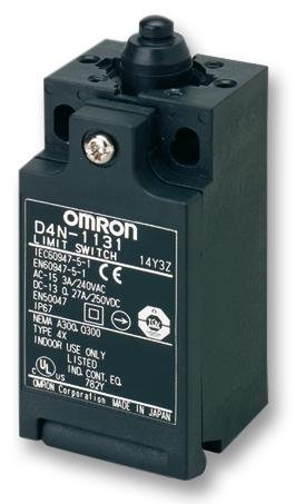LIMIT SWITCH, D4N, TOP PLUNGER OMRON INDUSTRIAL AUTOMATION D4N-1131