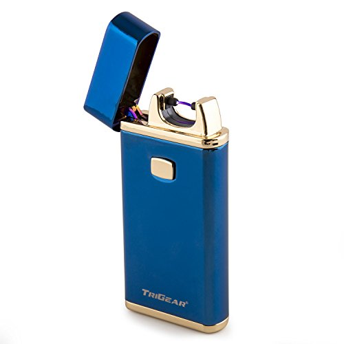 TriGear Elite Series Windproof USB Rechargeable Marine Blue Electric Arc Coil Lighter