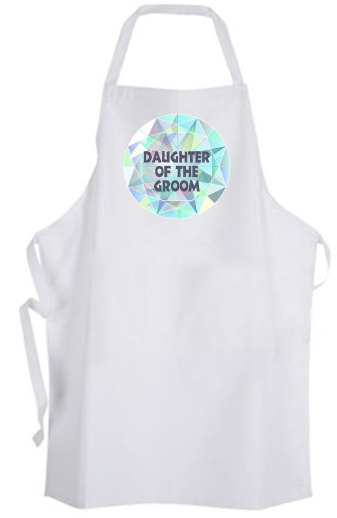 Daughter of the Groom Diamond – Adult Size Apron – Wedding Marriage Family