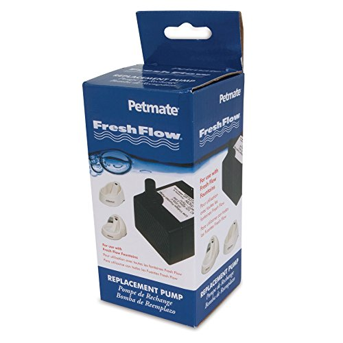 Petmate Fresh Flow Deluxe Replacement Pump 120V - Easy Install - AC Adapter and Cord ()