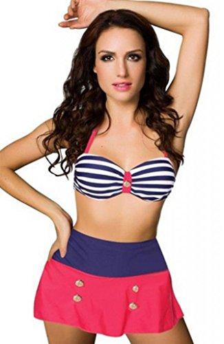 PrettyGirl Bikini Beachdress womens bikini swimwear High Waisted Bottom swimsuits Push Up High Waist Bikini Set