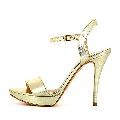 Evita Sko Valerianesyre Kvinder Sandalette Glat Læder Guld QK9Z1