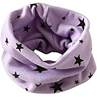 Fullkang Fashion Autumn Winter Boys Girls Collar Baby Star Scarf Cotton O Ring Neck Scarves