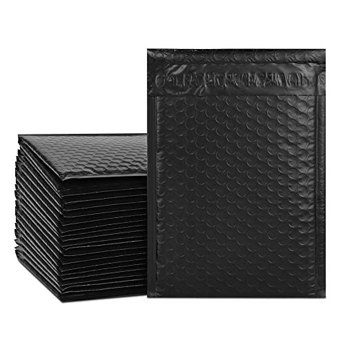 UCGOU #0 6x10 Inch Black Poly Bubble Mailers Padded Envelopes Shipping Bags 50pcs
