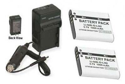 li-50ba li-50bb 2電池+充電器for Olympus SZ - 10、Olympus SZ - 11、Olympus SZ - 20、Olympus SZ - 30mr XZ - 1 B01DLNKOLC