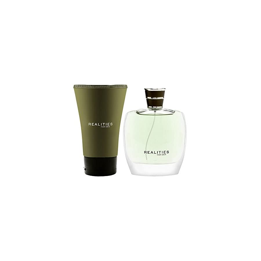 Realities (new) By Liz Claiborne For Men. Set cologne Spray 3.4 Ounces & After Shave Soother 4.2 Ounces