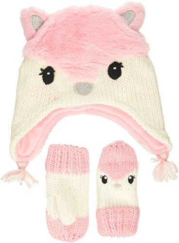 The Children's Place Toddler Girls Novelty Hat & Mittens Set, angel kiss, L (4T/5T)