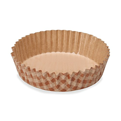 Welcome Home Brands Check Ruffled Baking Cup 3.9 inch diameter x 1.2 inch high - Pack of 300 by Welcome Home Brands