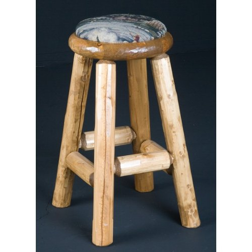 Viking Log Furniture NWS PAC1 30 in. Pub Stool Cushion Seat - Honey Pine