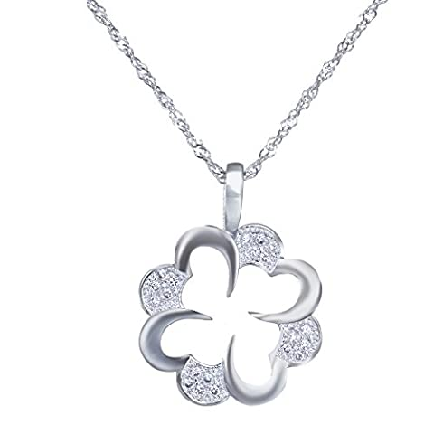 LLNF Wedding Necklace Rhinestone Hollow Swarovski Crystal Elements Butterfly Silver Carved Chain Necklace For Women (Chain Silver Pendent)