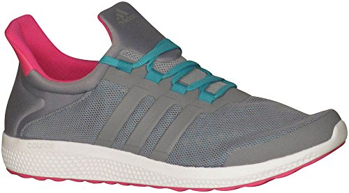 adidas Performance Women's CC Sonic W Running Shoe, Grey/Grey/Shock Green, 8.5 M US