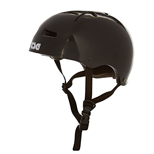 TSG Skate/BMX Half Shell Skateboard Helmet | Injected Colors with Hardshell Construction and EPS Foam (Black, (Hawk Lightweight Hat)
