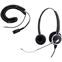 Cisco 7821, 7841, 7861 Phone Headset - Voice Tube Pro Binaural Headset + RJ9 Cisco Headset Adapter as Home Agent Headset