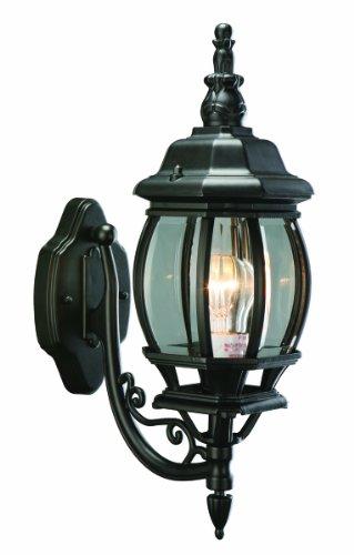 Design House 505537 Canterbury 1 Light Indoor/Outdoor Wall Light, Black