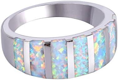 オーパル指輪 10月誕生石リング シルバー レディース オリジナル キラキラ 専用BOX ホワイト 20号