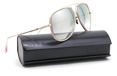 Dita CONDOR - TWO Shiny 12K Gold Unisex Sunglasses 21010 - - Dita Aviator Sunglasses