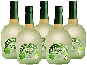 Licor de manzana Granpomier de 70 cl - Bodegas Gonzalez Byass (Pack de 5 botellas): Amazon.es: Alimentación y bebidas