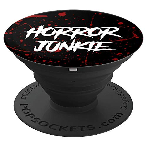Gift for Horror Movie Lover Blood Splatter Gore - PopSockets Grip and Stand for Phones and Tablets]()