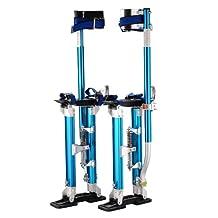 "Pentagon Tools 18"" - 30"" Blue Drywall Stilts"