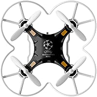 Domybest Mini Quadcopter 4CH 6Axis Gyro Quadcopter with W/ Switchable Controller FQ777-124 RTF Drone Black