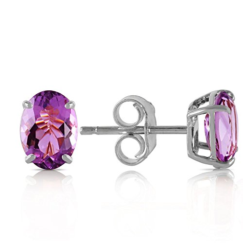 ALARRI 1.8 Carat 14K Solid White Gold Purple Eyed Angel Amethyst Earrings by ALARRI