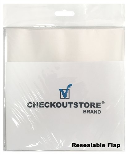 CheckOutStore 500 COS Clear Plastic OPP Outer Sleeves with Sealable Flap for 7