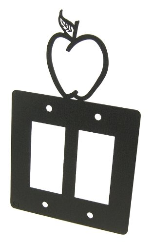 Apple Double GFI Rocker Light Switch Plate (Apple Switchplate)