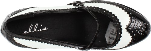 Ellie Shoes Donna 414-flapper Pump Nero / Bianco
