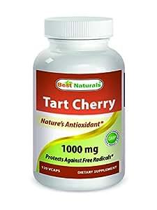 Best Naturals Tart Cherry 1000 mg 120 Veggie Capsules - Tart Cherry capsules for uric acid metabolism
